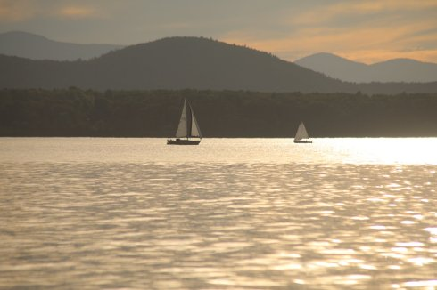 Sailboats on Lake